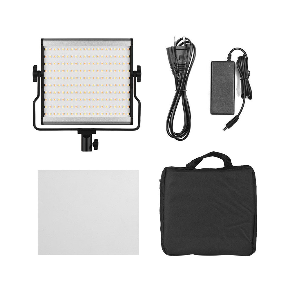 Adjustable Brightness Photography Fill Light L4500 LED Camera Video Light Video AC Power Adapter with Large