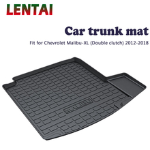 EALEN 1PC Car rear trunk Cargo mat For Chevrolet Malibu XL Double clutch 2012 2013 2014 2015 2016 2017 2018 Car Anti-slip mat for lada largus 2012 2018 trunk mat floor rugs non slip polyurethane dirt protection interior trunk car styling