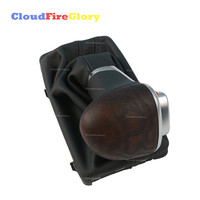 CloudFireGlory For Audi A6 C7 A7 2012 2013 2014 2015 Automatic Gear Shift Knob w/ Leather Boot Short Ash Wood 4GD713139A
