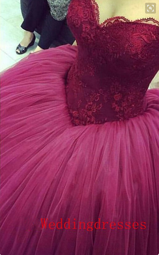 Fancy Maroon Ball Gown Crest - Long Formal Dresses Evening Dresses ...