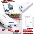 Pineng 20000mah Power Bank 20000 mah PN-999 Portable Charger 2 Ports for iPhone 5 Charge 830% Fast Charge for Xiaomi Huawei