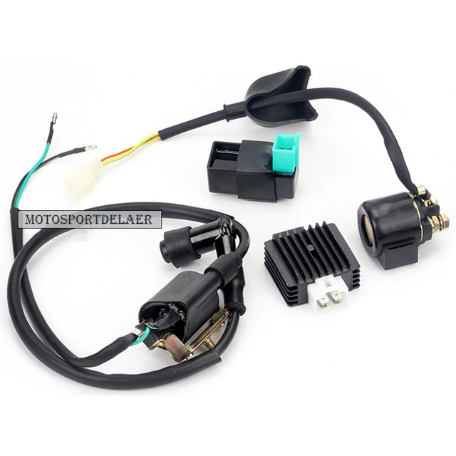 US $20 9 22% OFF|5 Pins AC CDI Ignition Coil 12V Start Relay 4 Pin Voltage  Regulator Rectifier For 50cc 70cc 90cc 110cc Dirt Bike Motorcycle ATV-in