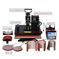 1 unids 8 En 1 Máquina Combinada De Transferencia De Calor de Sublimación/Calor Máquina de La Prensa De Placa/Taza/Cap/camiseta/caja Del Teléfono