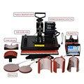 1pcs  8 In 1 Combo Heat Transfer Machine Sublimation/Heat Press Machine For Plate/Mug/Cap/T-Shirt /Phone case