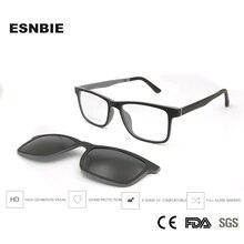 Ultralight Ultem Brillen Frame Zwarte Jongens Meisjes Magnetische Clip Zonnebril Gepolariseerde Uv400 Vierkante Recept Bijziendheid Lens