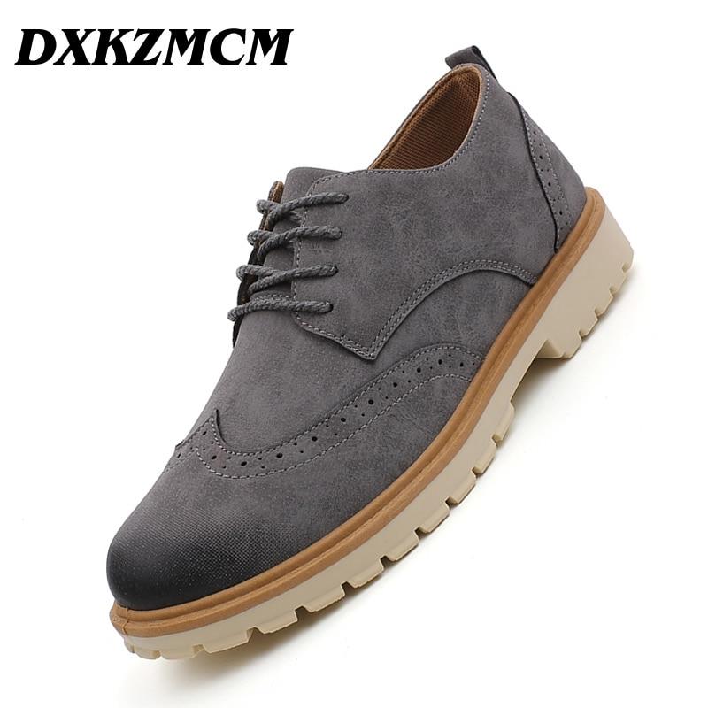 DXKZMCM Men Tooling Casual Shoes Men Leather Shoes Footwear Man Shoes Comfortable Men Oxfords