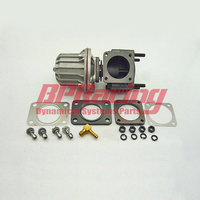 50mm external turbocharger manifold exhaust wastegate silver