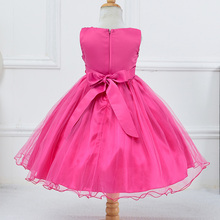 Baby Girls Party Dress Kids Children Girls Sleeveless Sequins Formal Wedding Dress Flower Princess Dress 4 to 10 Years
