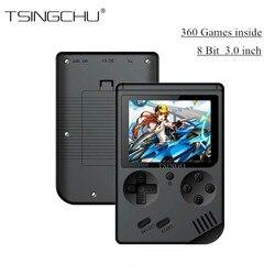 TSINGO Mini portátil de bolsillo reproductor de juegos portátil 168/360 juegos clásicos salida de TV videoconsola de juegos Retro el mejor regalo para la familia