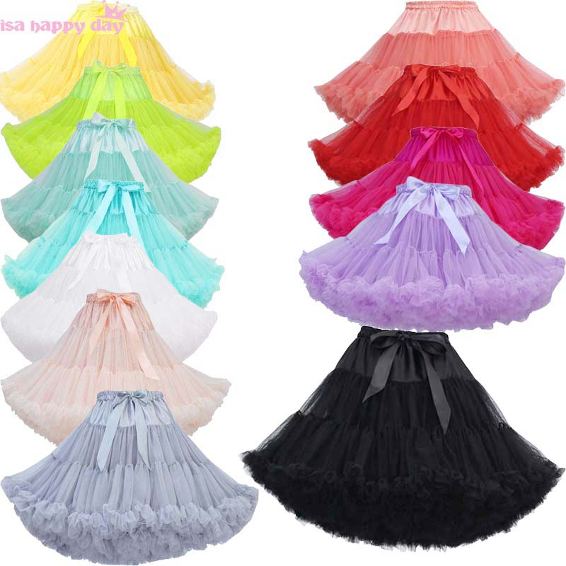 New Hot Sale Short White Black Petticoat For Wedding Vintage Tulle Petticoat Crinoline Underskirt Rockabilly Swing Tutu Skirt