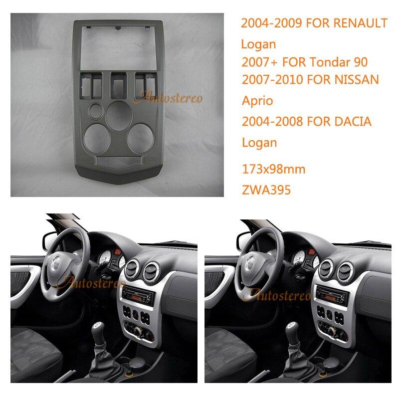 Здесь можно купить  2Din Car Radio Fascia Panel Kit for RENAULT Logan 2004-2009,Tondar 90 2007+Car DVD Frame for NISSAN Aprio,for DACIA Logan   Автомобили и Мотоциклы