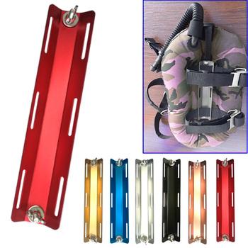 Adapter do nurkowania ze stopu aluminium z pojedynczym zbiornikiem ze śruby i nakrętki do nurkowania BCD Backplate tanie i dobre opinie CN (pochodzenie)
