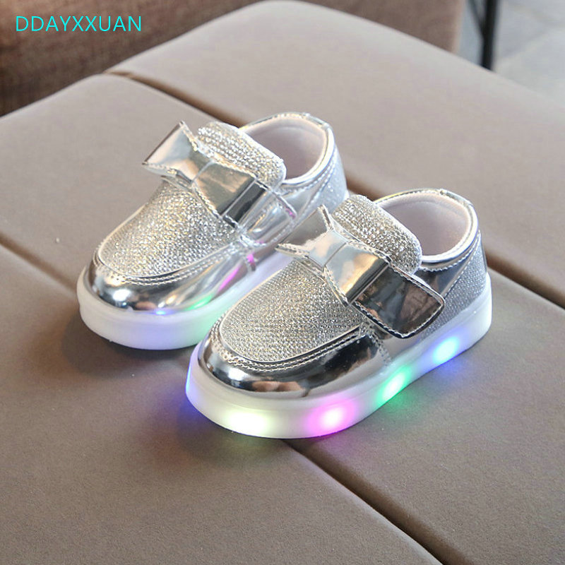 Children shoes with light New children glowing sneakers led kids Lighted Shoes toddler Boy LED Flashing girls shoes sequins