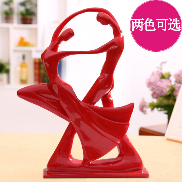 Home Decoration And Furnishing Articles Couple Characters: Desktop Sitting Room Adornment, Decoration Crafts,Resin