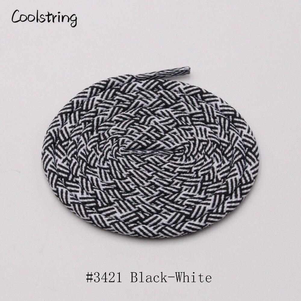 Coolstring 4,5 мм эксклюзивный Быстрый круглые шнурки для ботинок Кроссовки тренер обуви черный белый смесь с запасные шнурки для обуви