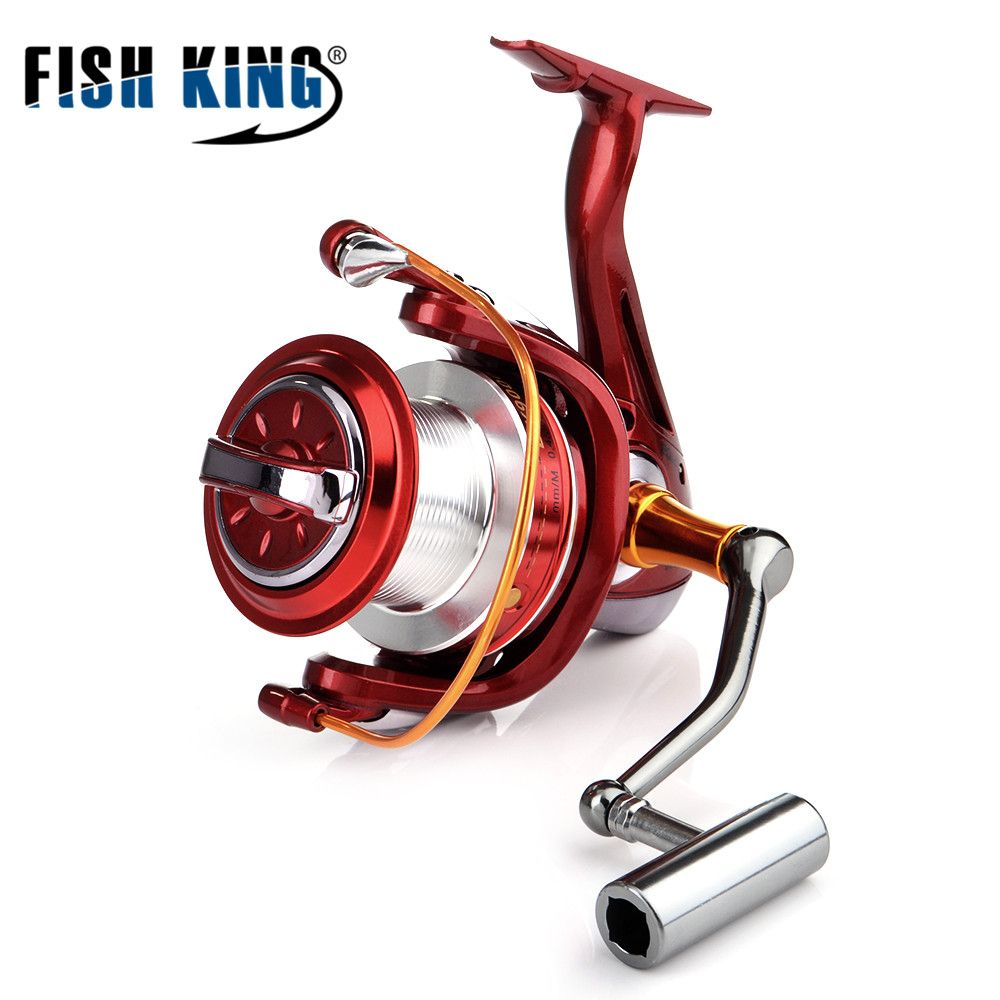 FISH KING 8000-11000 Series 10+1BB Spinning Fishing Reel Max Drag 19KG Carp Fishing Spinning Reel seaknight spinning reel cm ii 2000 3000 4000 5000 max drag 13kg 9 1bb 5 5 1 carbon drag spinning fishing reel for carp fishing
