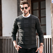 GustOmerD Autumn Winter New Pullover Sweaters Man's Fashion Casual O-Neck Sweater Men Jumper Knitted Solid Color Mens Sweaters