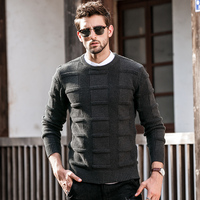 GustOmerD Autumn Winter New Pullover Sweaters Man's Fashion Casual O Neck Sweater Men Jumper Knitted Solid Color Mens Sweaters