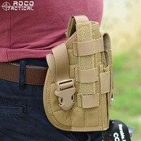 ROCOTACTICAL Cintura Militar Pistola Pistolera Molle Pistola Táctica Holster w/Mag Pouch para Right Handed Shooters 1911 45 92 96 Glock