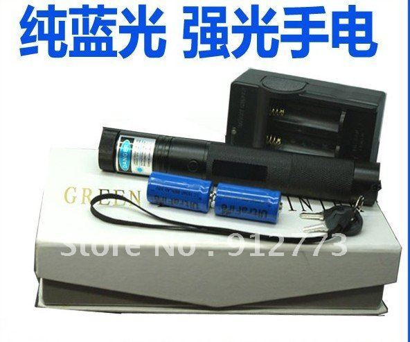 Super Powerful military blue laser pointers 200000mw 200Watt 450nm burning match/dry wood/black/cigarettes+glasses+charger+box