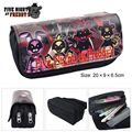 Das cinco Noites no Freddy FNAF Estudante Zipper Pencil Case Cosmetic Bag Bolsa Purse
