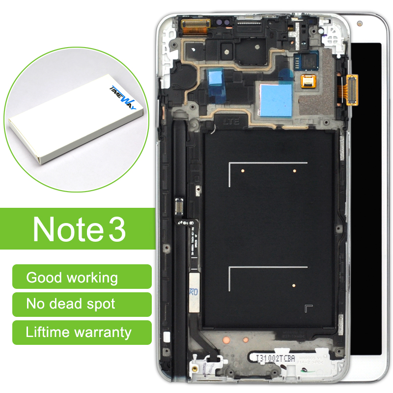 2 pcs With Frame Free Shipping New LCD Display For Samsung Note 3 N900 N9005 lcd touch screen digitizer Assembly