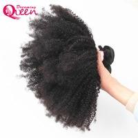 Mongol Del Pelo Rizado Afro 4B 4C Color 1B Negro Natural 100% Soñando Productos Reina Del Pelo de Remy 1 Bundles Armadura Del Pelo Humano