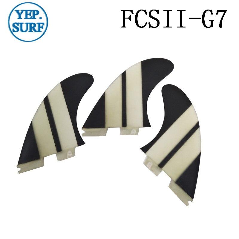 Surf Tri jeu d'ailettes FCS2 G5/G7/K2.1 FCS ii G5/G7/K2.1 palmes de Surf pour planche de Surf sup planche en fibre de verre nid d'abeille - 6