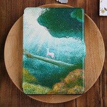 Kandouren-Funda de piel para Amazon Kindle paperwhite, Kindle voyage, Kindle Básico 2016, arte Único diseño de la cubierta delgada, azul, rojo, rosa ciervos