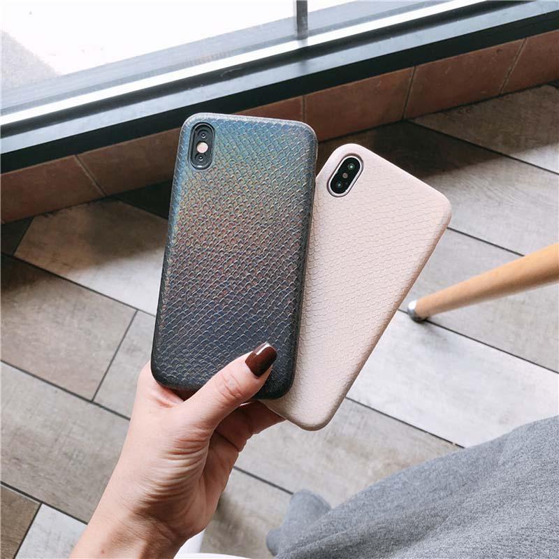 Gradient mode coque de téléphone iPhone6 6 s peau de serpent coque souple pour iPhone7 8 personnalisé drop-proof coque de téléphone pour iphone onexs MAX XR