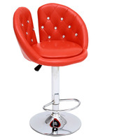 Ergonomic Lifting Swivel Bar Chair Rotating Adjustable Height Cafe Pub Bar Stool Chair Stainless Steel Stent cadeira 5 Colors