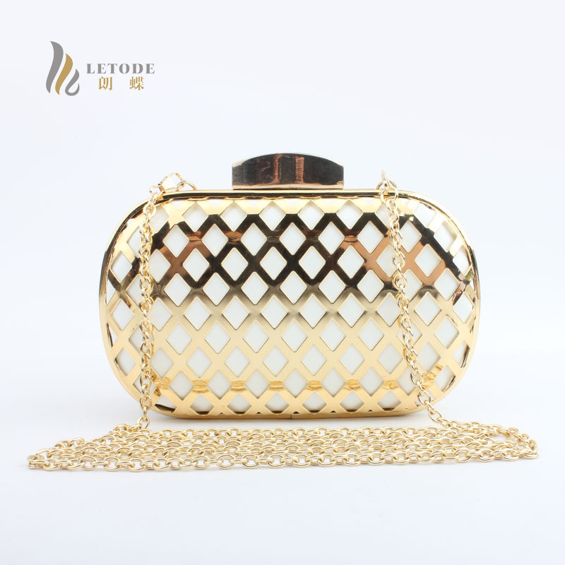 Womens Fashion Handbags PU Metal Evening Clutch Bag Day Clutches Party Shoulder Bag Mess ...