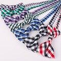 Mantieqingway Pequeño Plaid Impreso Niños Pajarita para el Bebé Del Bowknot Niño Boy Cuello Pajaritas Corbata Delgada Corbata Corbata Ajustable