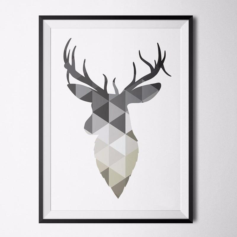 Постеры геометрические животные