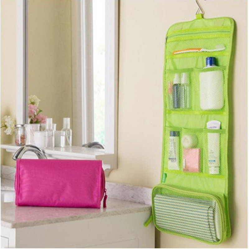 Portable Hanging Organizer Bag Foldable Cosmetic Makeup Case Storage Traveling Toiletry Bags Wash Bathroom Accessories 840122(China)