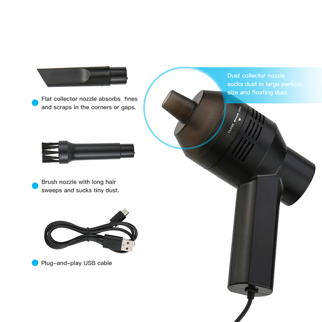 Portable Electric Vacuum Cleaners : Mini usb desk electric vacuum cleaner portable mechanical