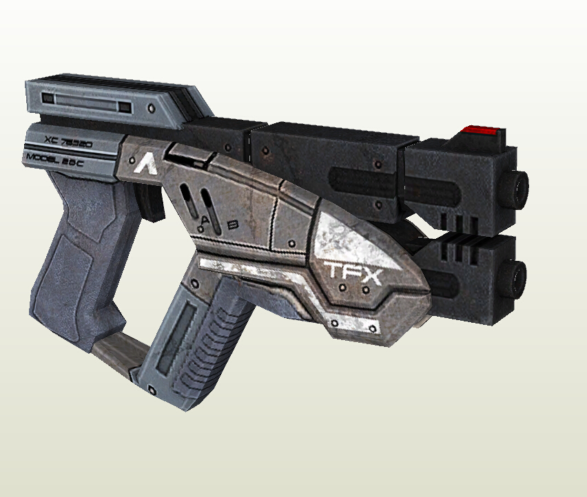 Mass Effect 3 M-3 Predator Pistol 1:1 Scale Paper Model 3D Handmade DIY Children Toy For Cosplay