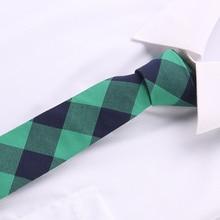 купить Skinny group tie Slim Narrow necktie fashion brand 6 cm cotton company tie fit for business wedding party gavata corbatas T48-21 дешево