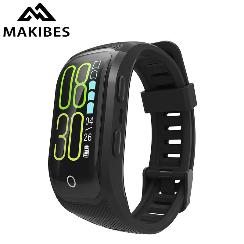 Makibes G03 Plus Couleur L'écran L'activité Fitness Tracker bracelet IP68 Étanche GPS Moniteur de Fréquence Cardiaque bracelet Bande À Puce