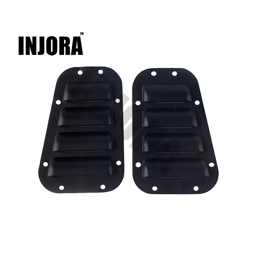 2PCS Black Plastic TRX4 Intake Grille Cover For 1:10 RC Crawler Traxxas TRX-4 TRX 4 Body