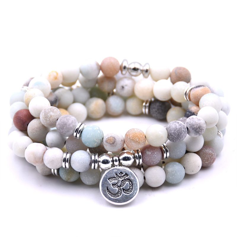 DIEZI Mode Mädchen Geschenk 2018 Neue 108 Mala Perlen Buddha Yoga Charme Strang Armbänder Armreifen Halskette Für Frauen Schmuck