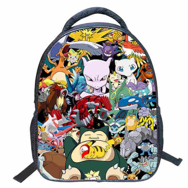Pika-Chu Unisex Casual Backpack School Bag Travel Daypack Gift