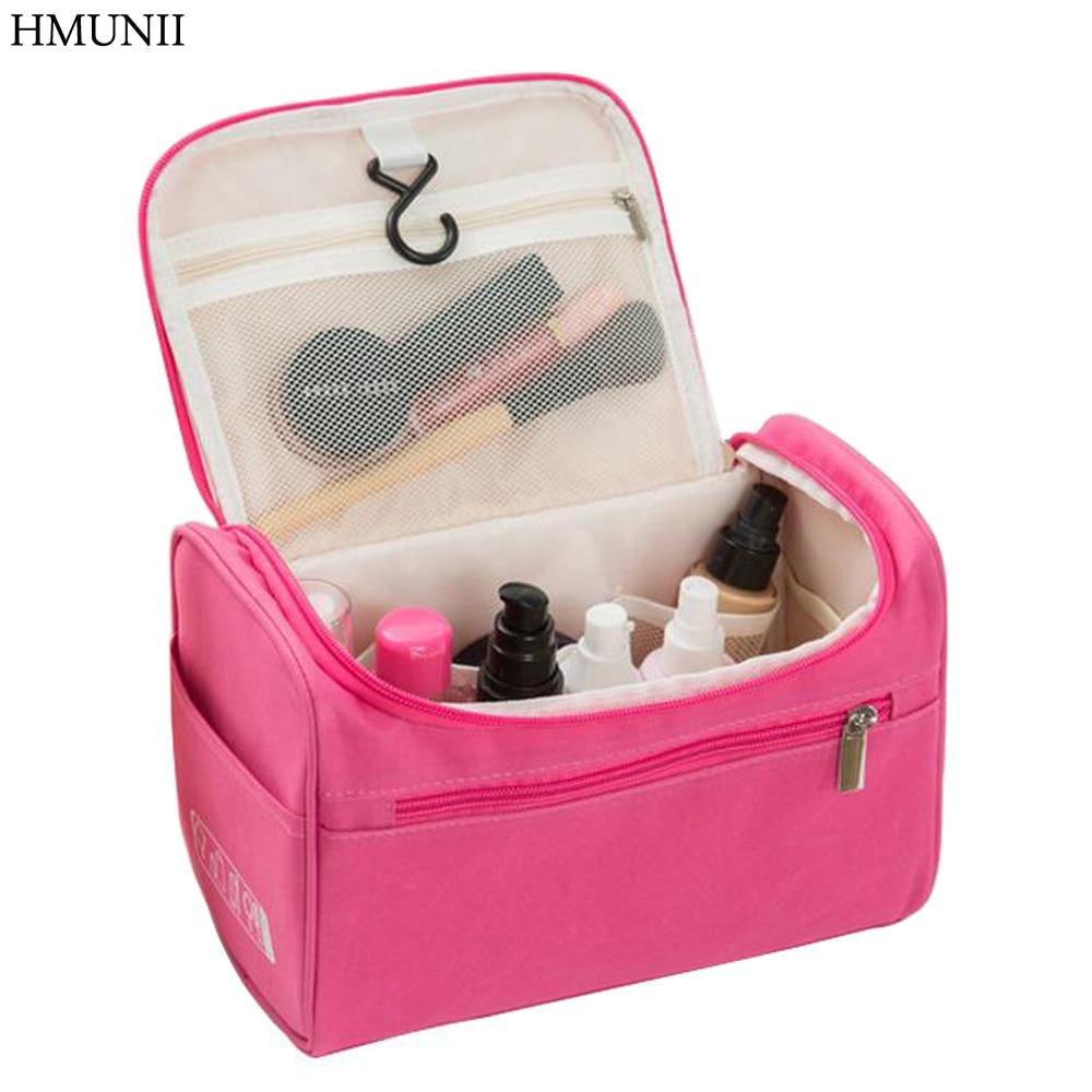 HMUNII Women Travel Makeup Bag Multifunction Cosmetic Bags Polyester Fashion Waterproof Storage Toiletry Bag Organizer Men HM-01