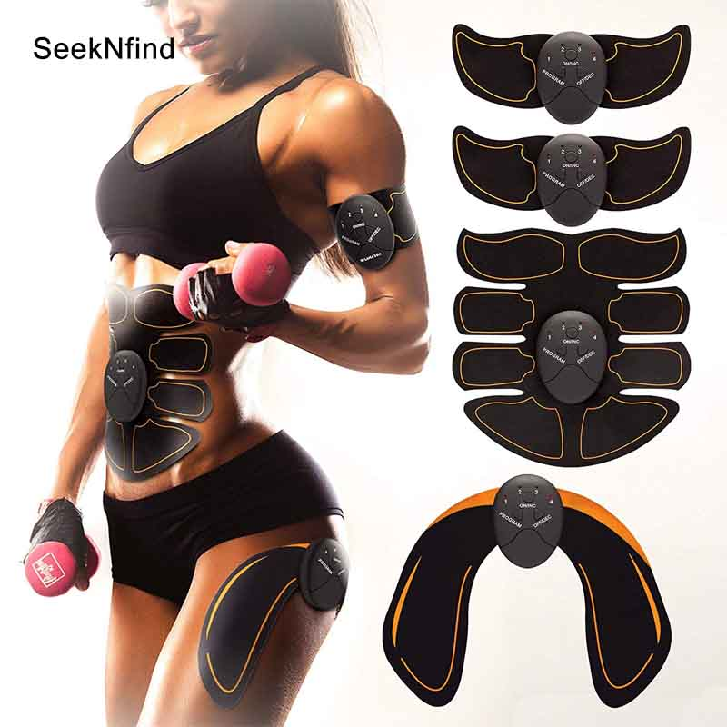 2019 New EMS Hips Trainer Electric Muscle Stimulator Wireless Buttocks Abdominal ABS Stimulator Fitness Body Slimming Massager