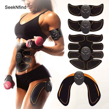 2019 New EMS Hips Trainer Electric Muscle Stimulator Wireless Buttocks Abdominal ABS Stimulator Fitness Body Slimming Massager led electric muscle stimulator ems wireless buttocks hip trainer abdominal abs stimulator fitness body slimming massager