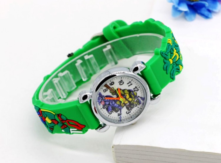 Hot sale 2016 New Fashion Teenage Mutant Ninja Turtles 3D Child Watch Silicon Cartoon Kids Sport Watch Boy quartz watch Relogios 16 inch anime teenage mutant ninja turtles nylon backpack cartoon school bag student bags double shoulder boy girls schoolbag page 5