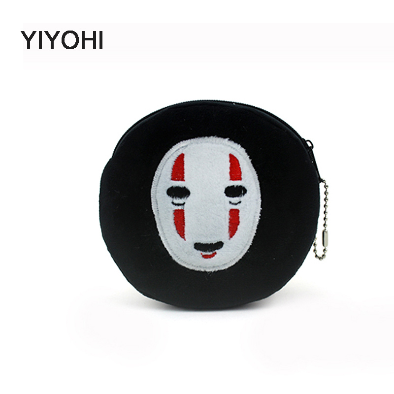 YIYOHI Hot Sale Kawaii Cartoon spirited away Children Plush Coin Purse Zip Change Purse Wallet Kids Girl Women For Gift