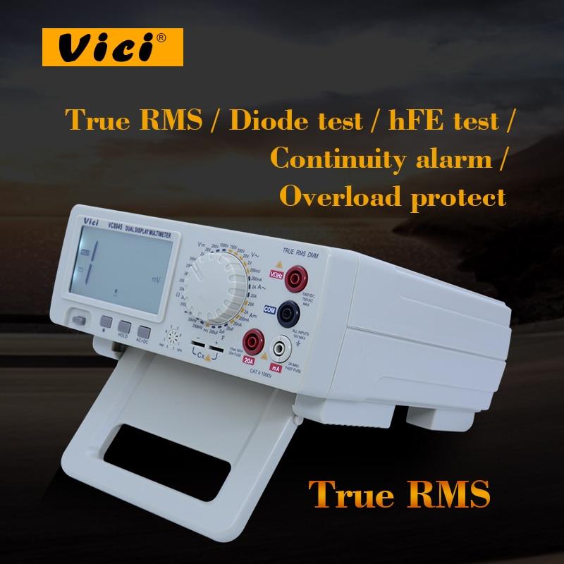 Vici VC8045 Bench type true RMS Digital Multimeter 4 1/2 True RMS DCV/ACV/DCA/ACA Resistance,Capacitance,Hz,hFE,Diodes tester vici vichy vc480c 3 1 2 digital milli ohm meter resistance tester 4 wire test lcd multimeter diagnostic tool tester data hold
