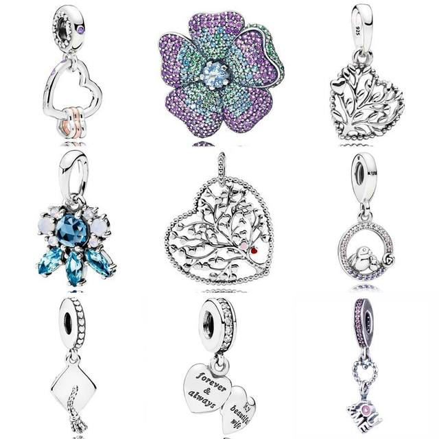 a1058b549 ... sale glorious bloom patterns of frost hearts highlights tree of love  wife pendant charm fit pandora