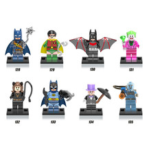 8pcs/lot Super Heroes Minifugures Bat-man Clown Assemble Action Figure Toy Christmas Gift